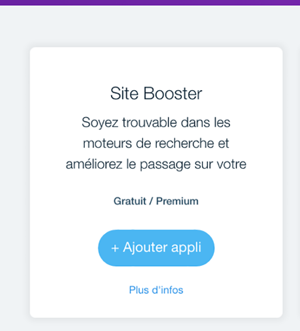Site booster Wix